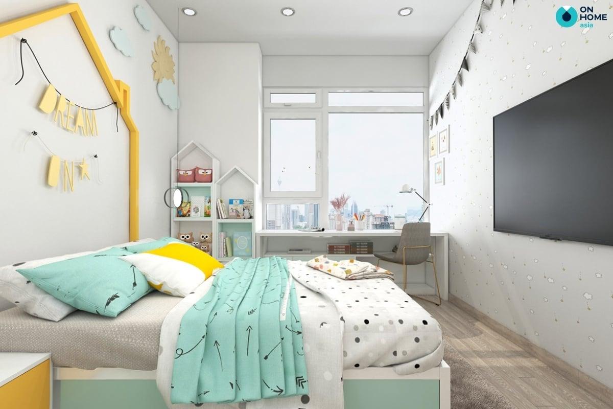 phòng ngủ bé gái 10 tuổi tiện nghi