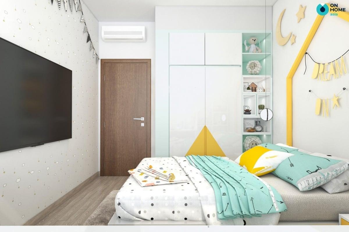 thiết kế nội thất phòng ngủ é gái 10 tuổi