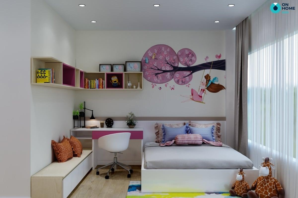 nội thất phòng ngủ dễ thương