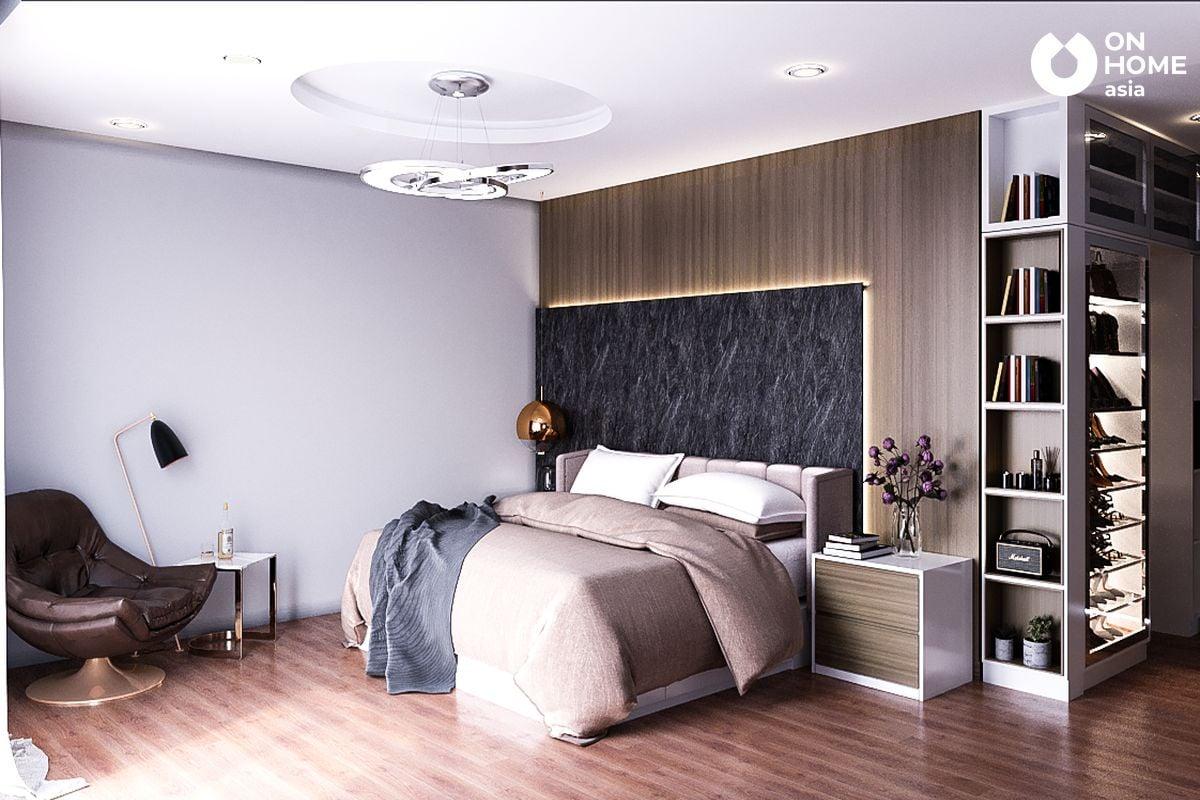 Nội thất phòng ngủ master của anh Trung Tuyến