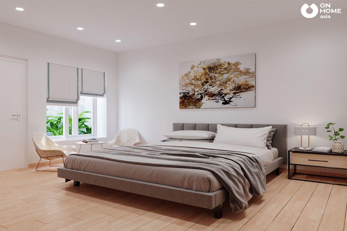 Thiết kế nội thất phòng ngủ nhà phố 1 trệt 1 lầu