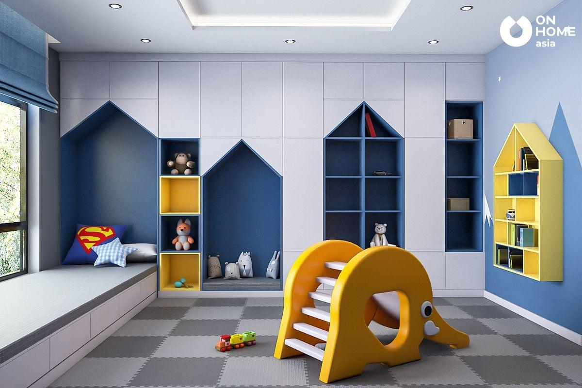 Thiết kê nội thất phòng ngủ ngủ dành cho trẻ em của anh Trung Tuyến