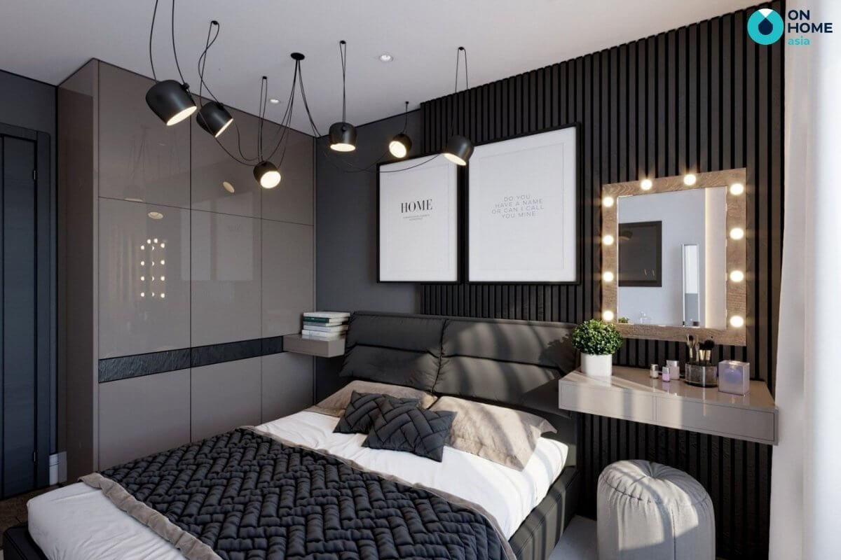 thiết kế phòng ngủ 20m2 thông thoáng