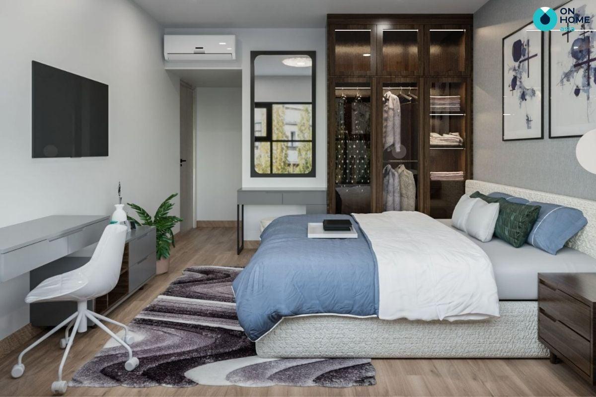 Nội thất phòng ngủ tại dự án căn hộ chung Compass One