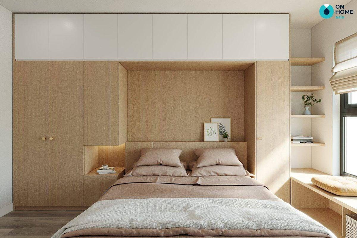Thiết kế nội thất dành cho phòng ngủ với kích thước nhỏ hẹp