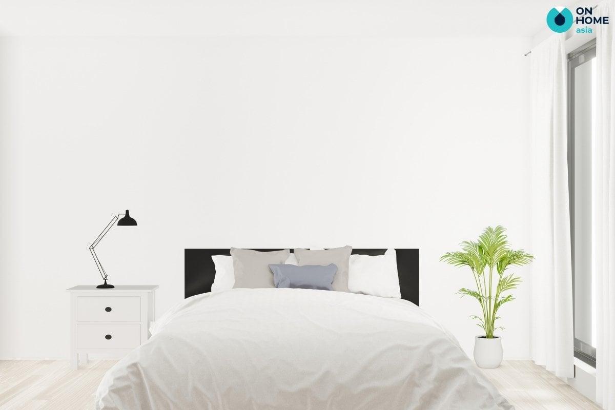 thiết kế phòng ngủ tối giản