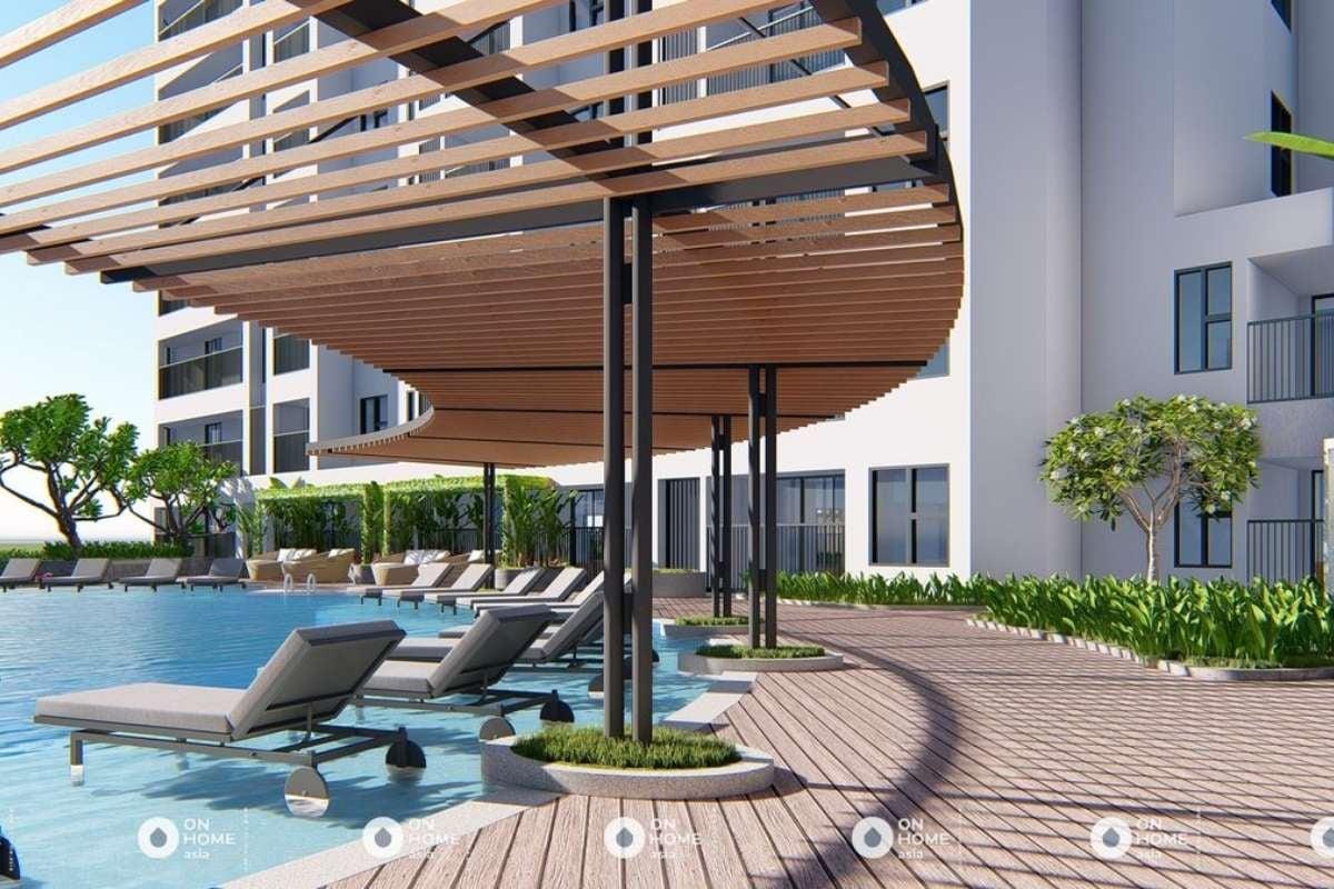 Khu vực hồ bơi của dự án Sora Gardens 2