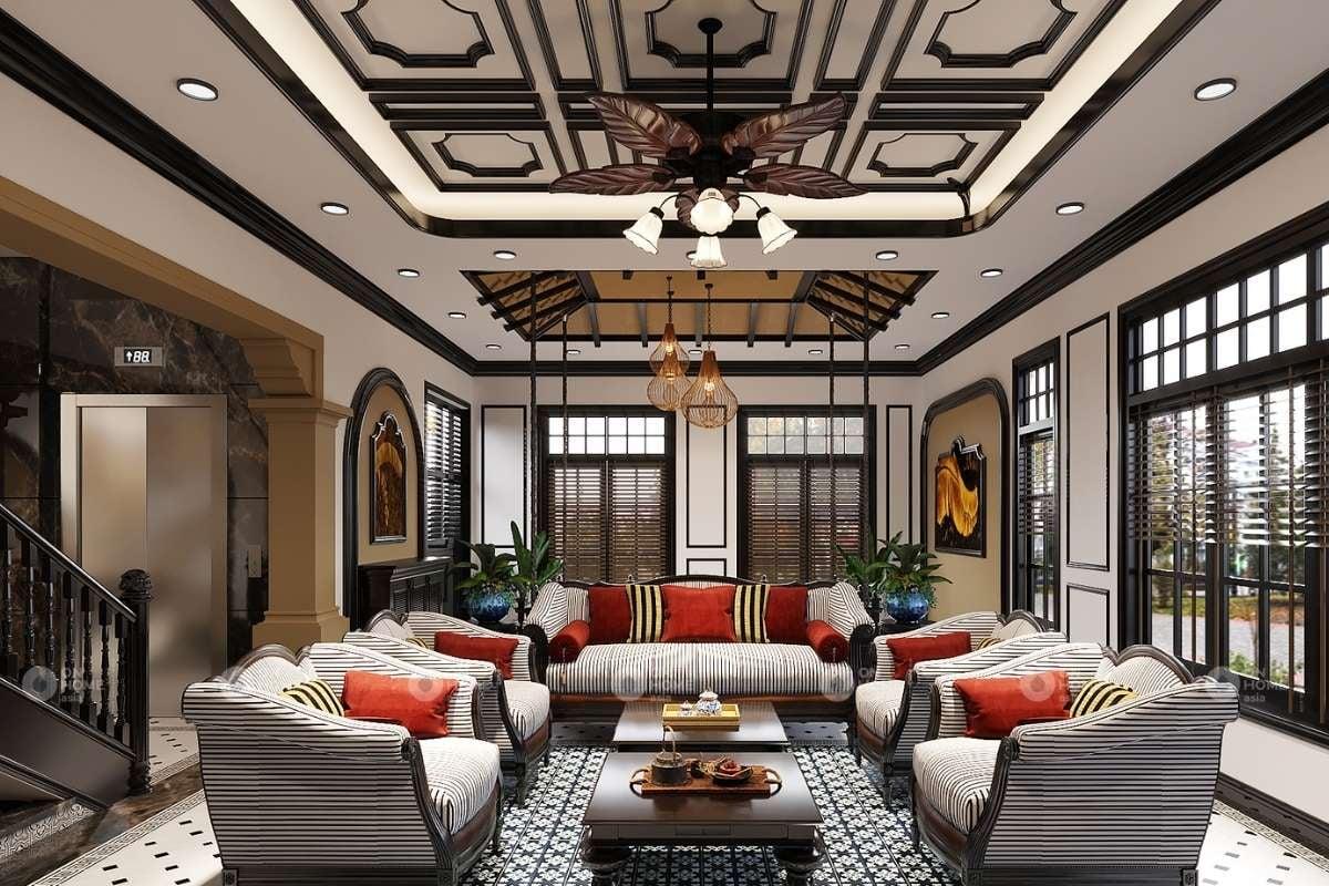 Phòng khách cổ điển Việt Nam với nét đẹp hoài cổ