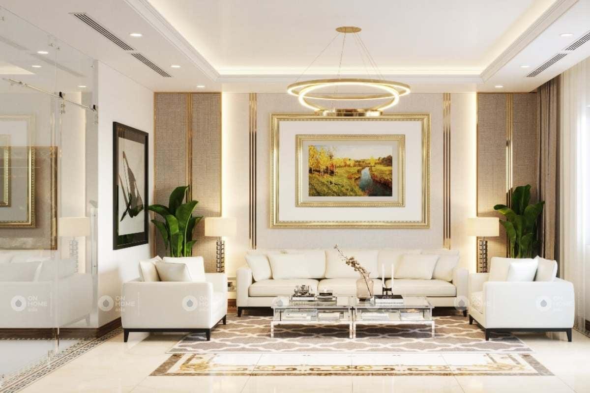 Ô trang trí âm tường giúp phòng khách thêm xinh