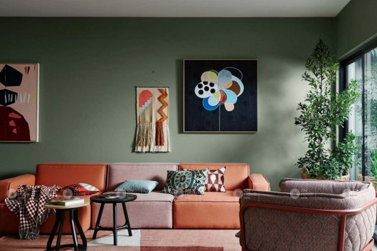 Sơn tường phòng khách mang lại một không gian đẹp và cuốn hút