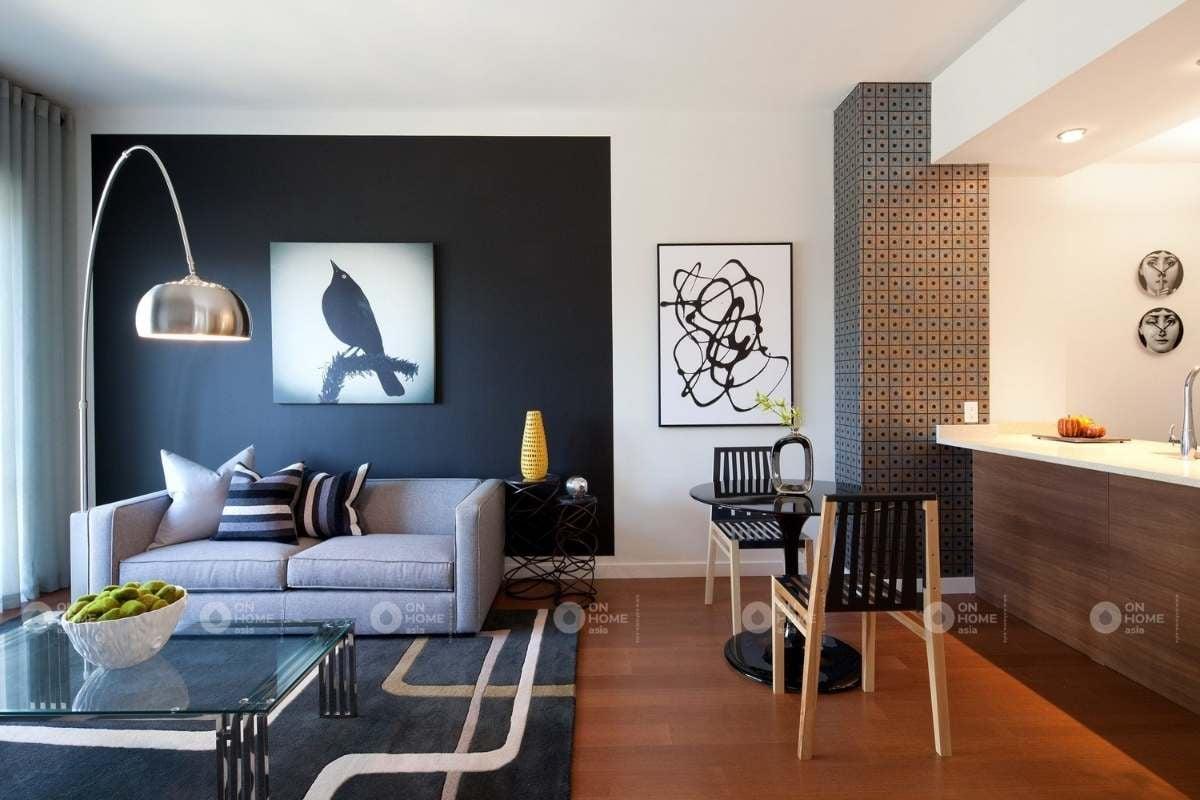 Sơn tường trang trí phòng khách
