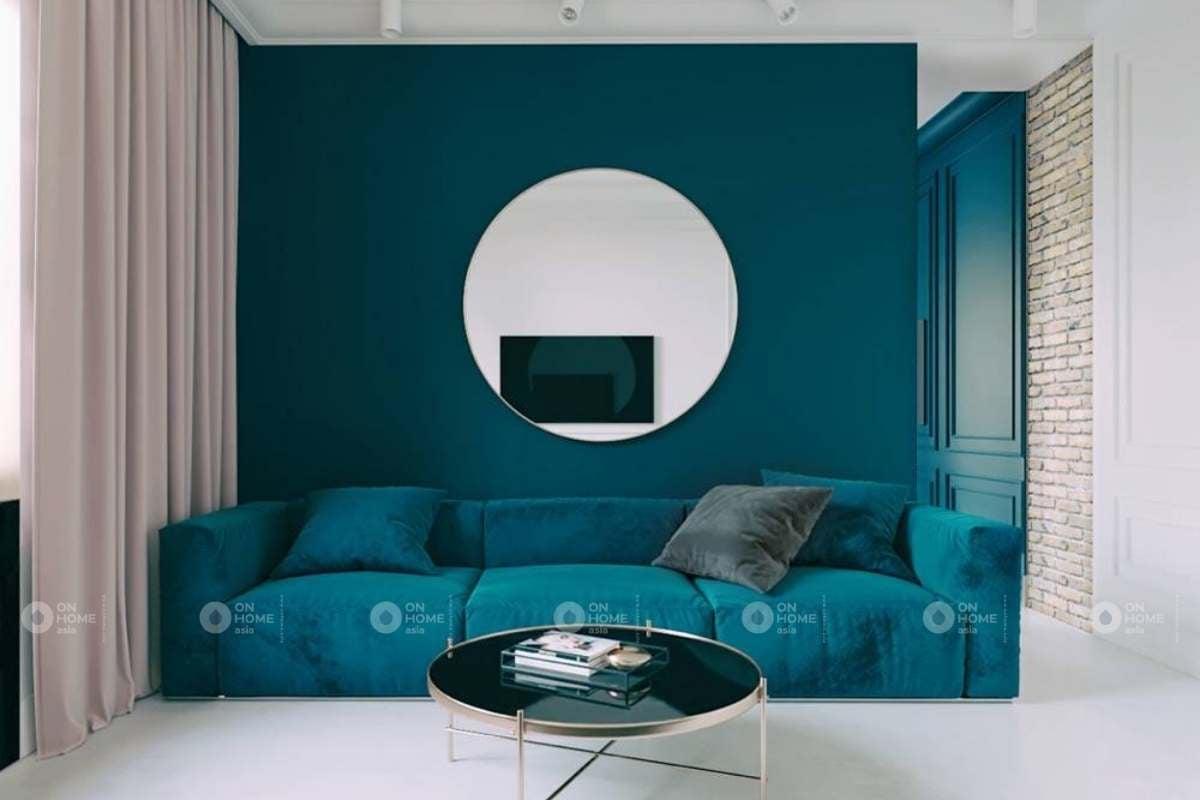 Sơn tường phòng khách nên có sự thống nhất với các không gian khác