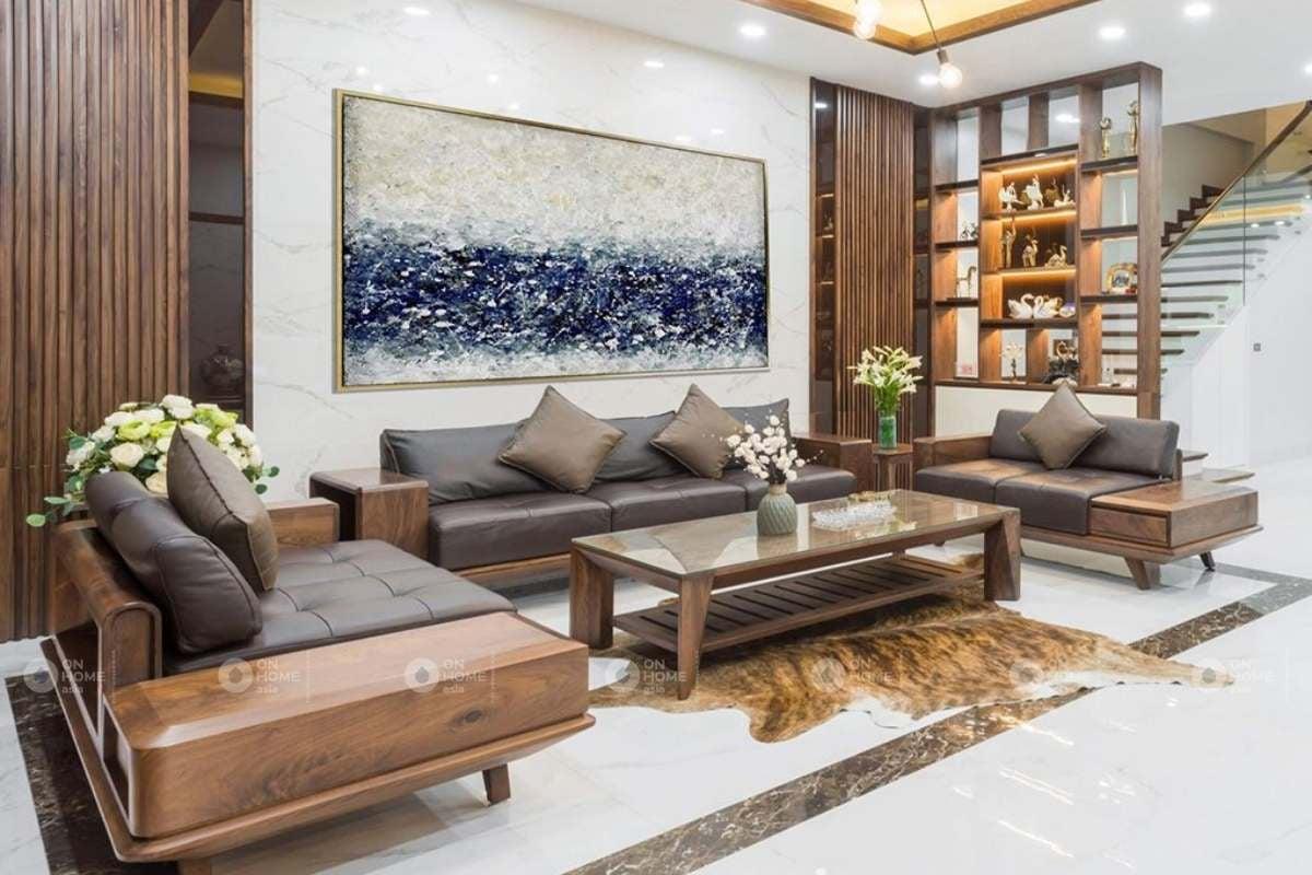 Tranh treo tường trang trí phòng khách thêm phần cuốn hút hơn