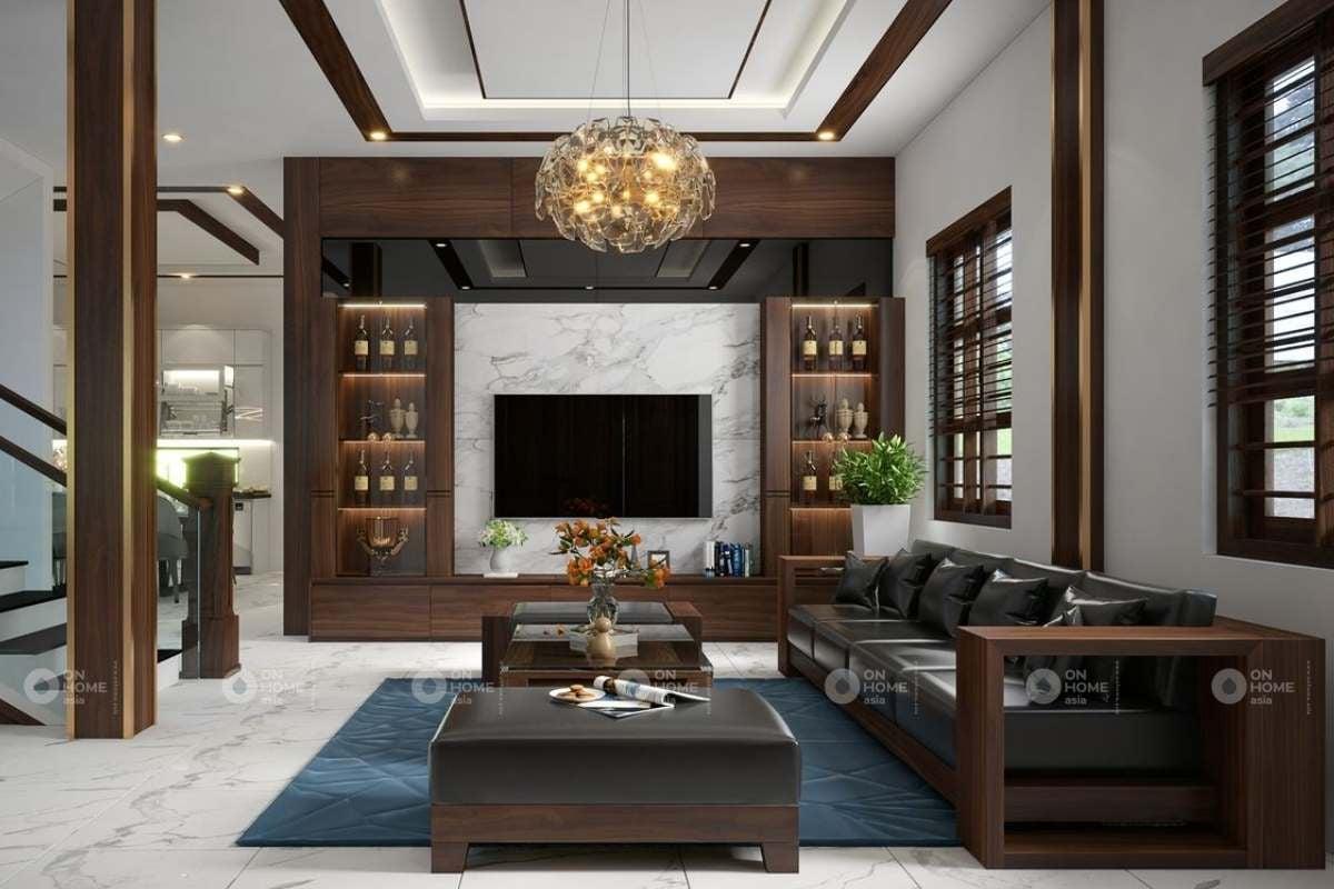 Tủ trang trí tường phòng khách