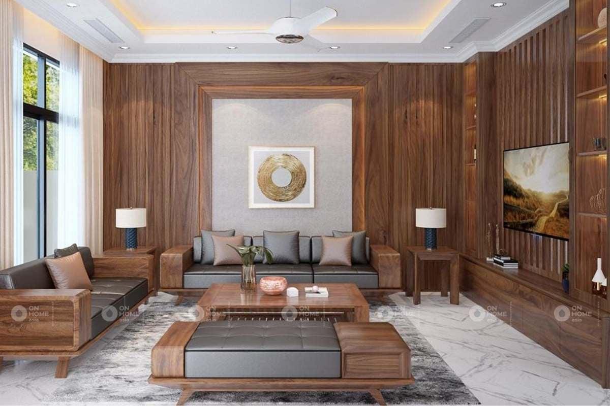 Trang trí tường phòng khách mang lại không gian sang trọng