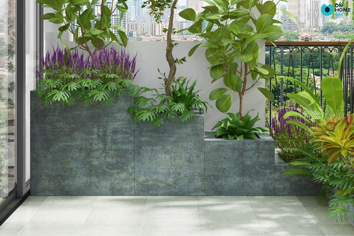 trang trí ban công bằng cây xanh