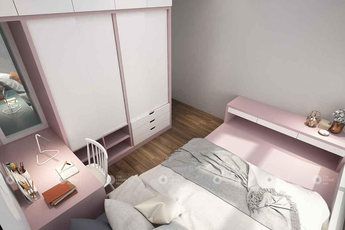 Trang trí nội thất với gam màu hồng nhạt