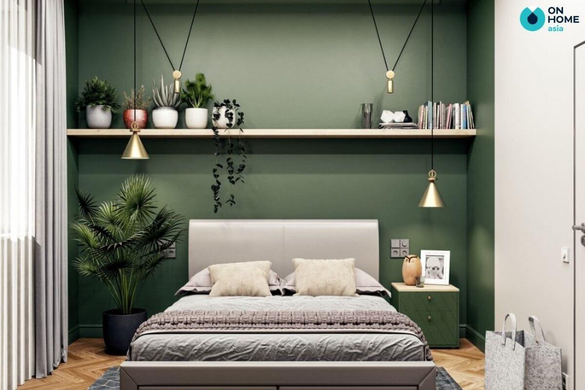 phòng ngủ 20m2 phong cách tropical