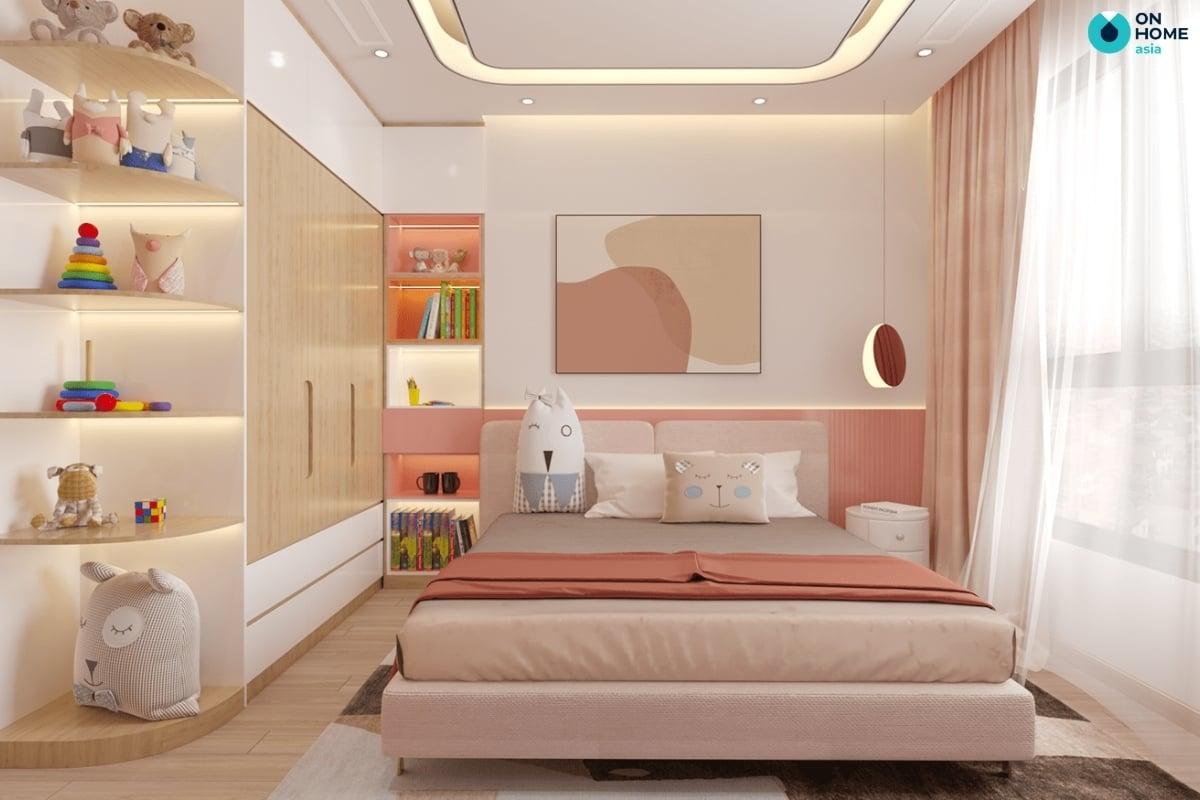 màu hồng đào đẹp mắt cho phòng ngủ
