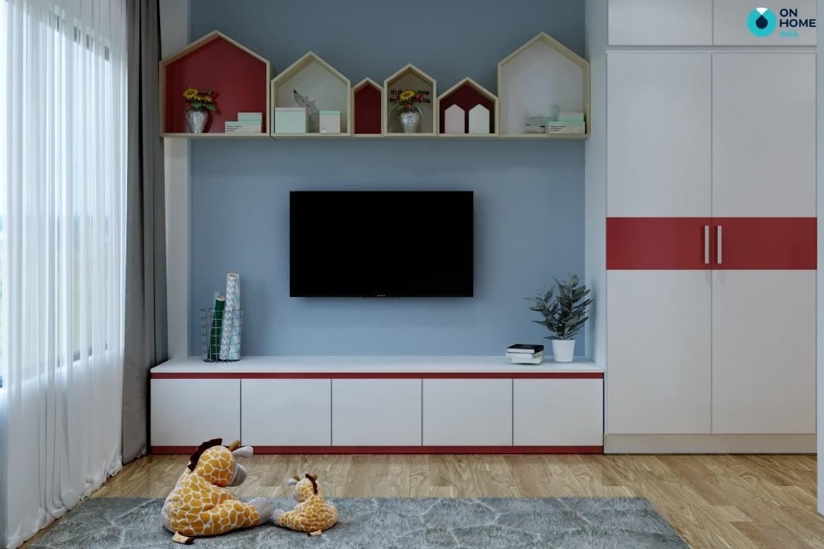 phòng ngủ với gấu teddy dễ thương