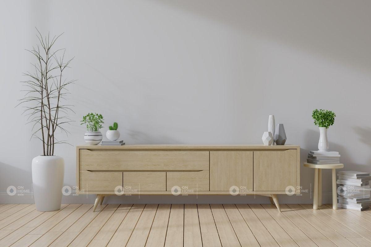 Tủ phòng khách gỗ công nghiệp