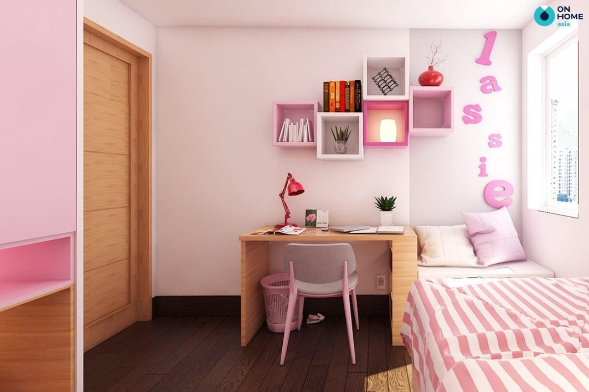 phòng ngủ bánh bèo tiện nghi