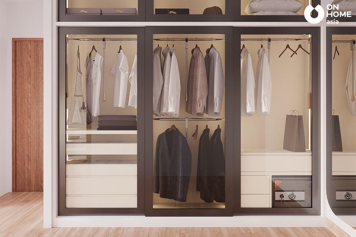 Tủ quần áo phòng ngủ master
