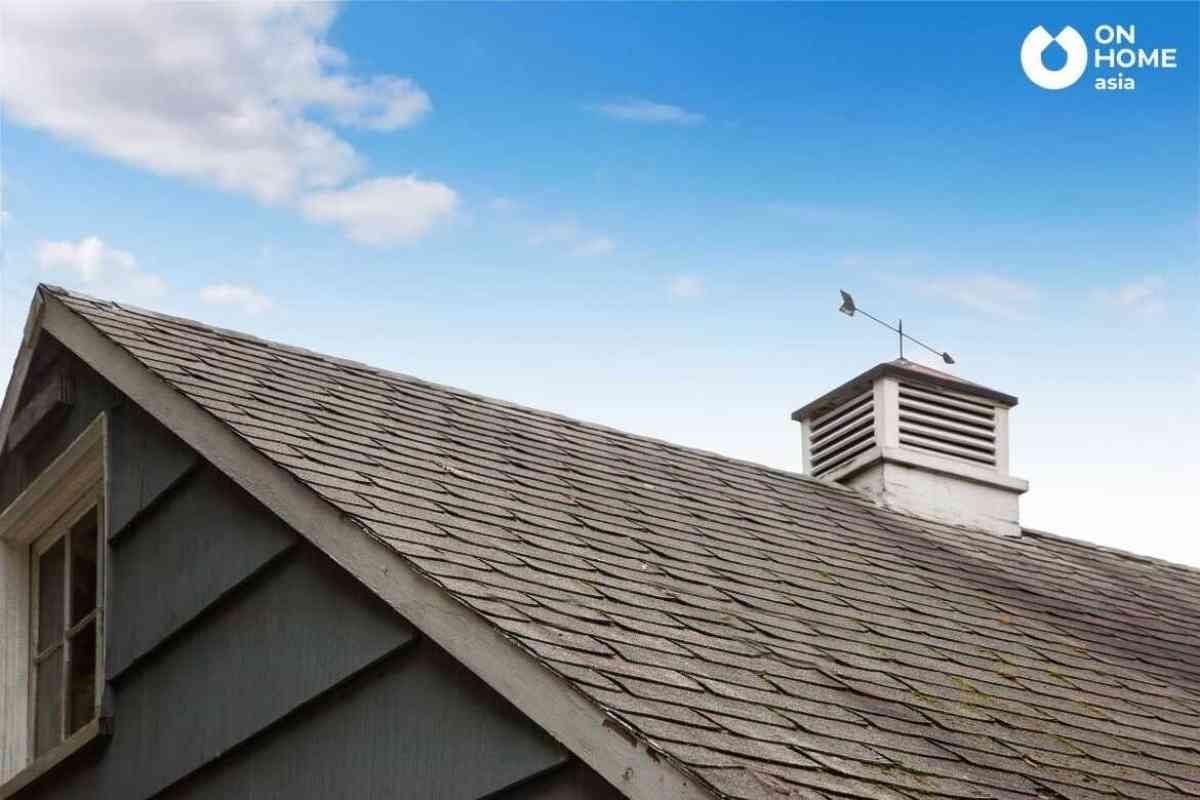 Xây mũi tên trên mái nhà