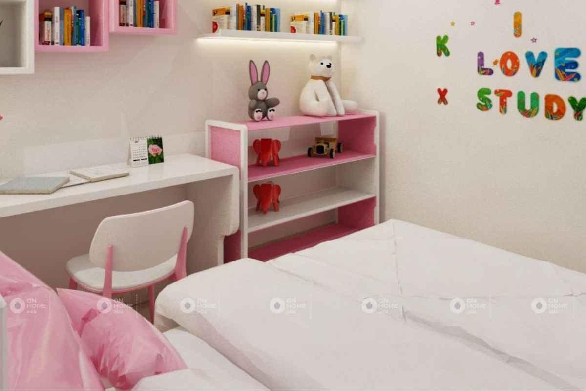 Phòng ngủ màu hồng được phái đẹp rất yêu thích
