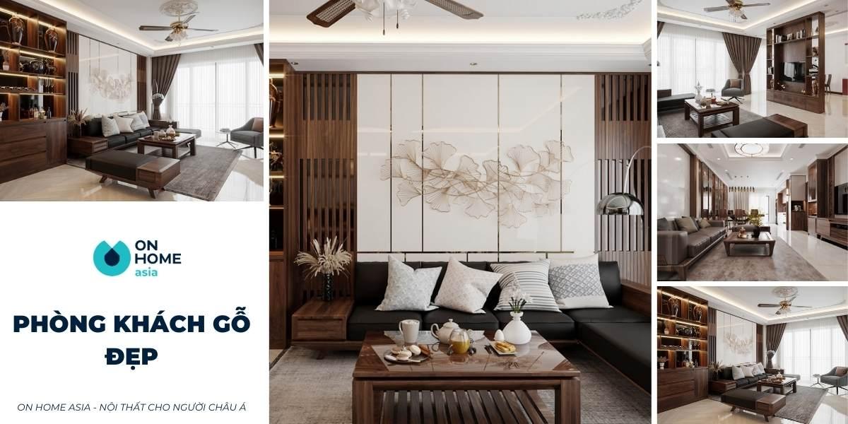 20+ mẫu phòng khách gỗ đẹp, sang trọng và đẳng cấp vượt thời gian