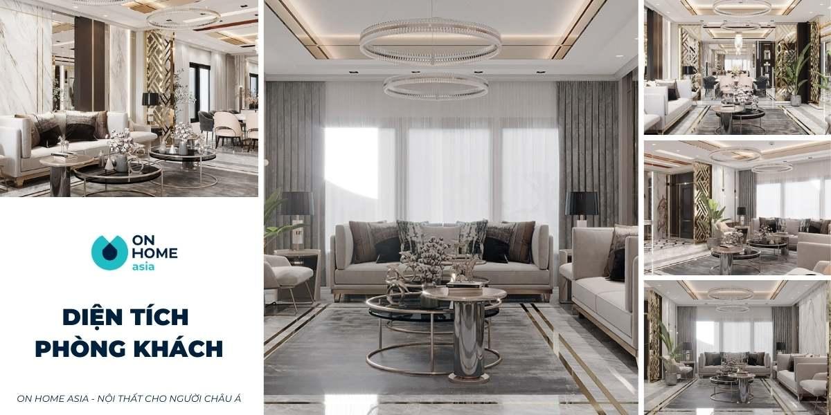 Nên thiết kế diện tích phòng khách bao nhiêu m2 là hợp lý?