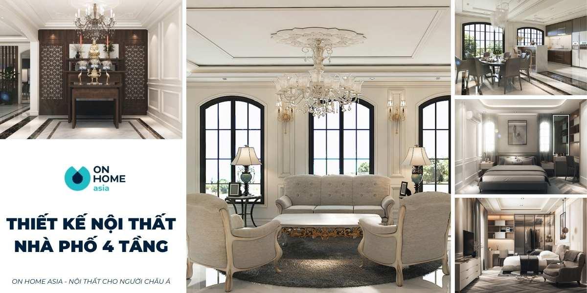 5 mẫu thiết kế nội thất nhà 4 tầng ấn tượng không thể bỏ qua