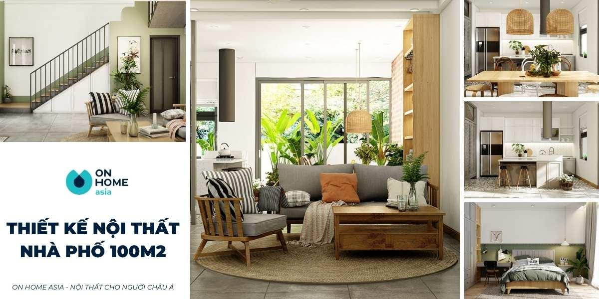 Thiết kế nội thất nhà phố 100m2 đẹp và sang trọng tối ưu chi phí