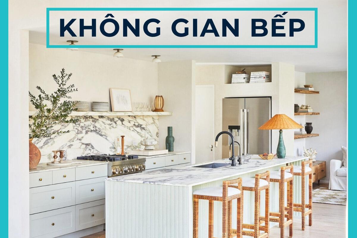 Mách nhỏ một số ý tưởng thiết kế nội thất không gian bếp