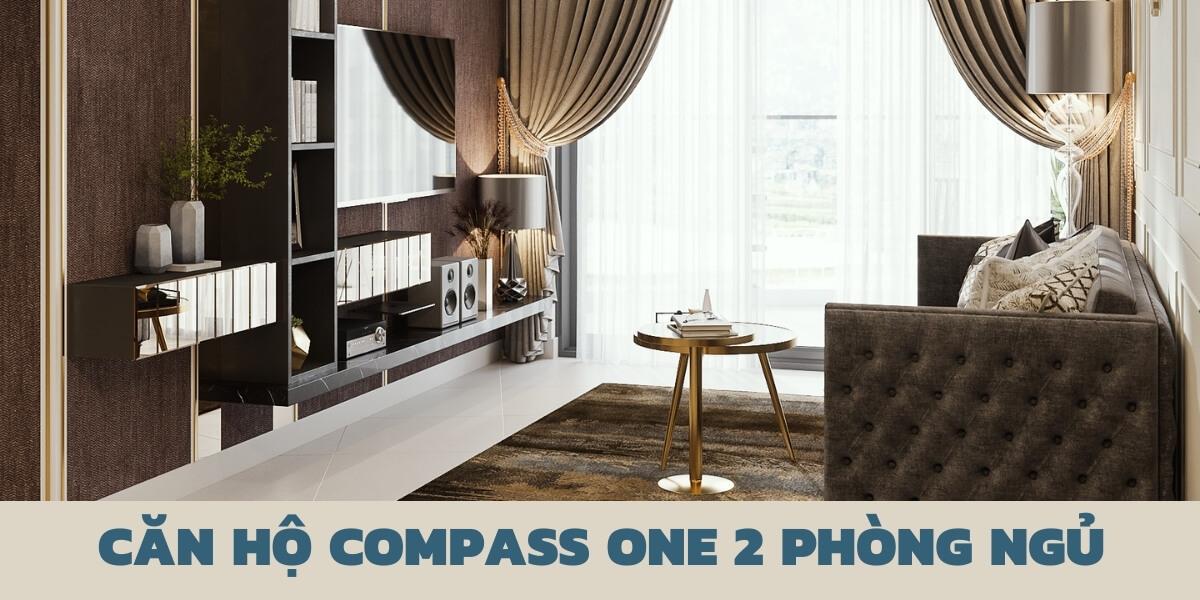 Thiết kế nội thất căn hộ chung cư Compass One 2 phòng ngủ