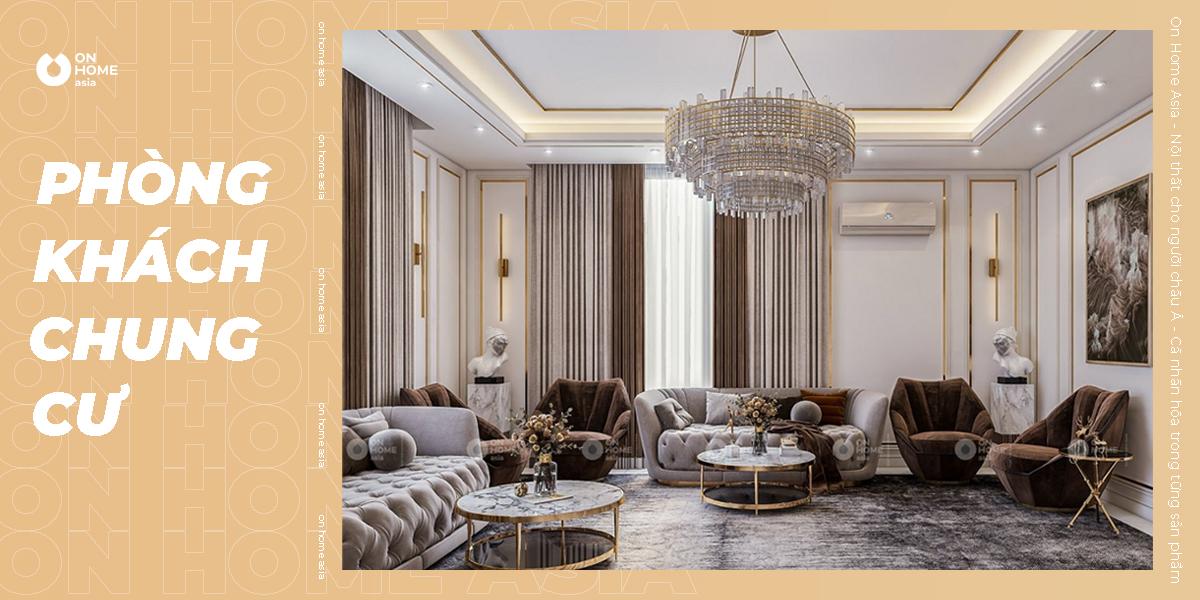 30+ mẫu thiết kế phòng khách chung cư đẹp không thể rời mắt