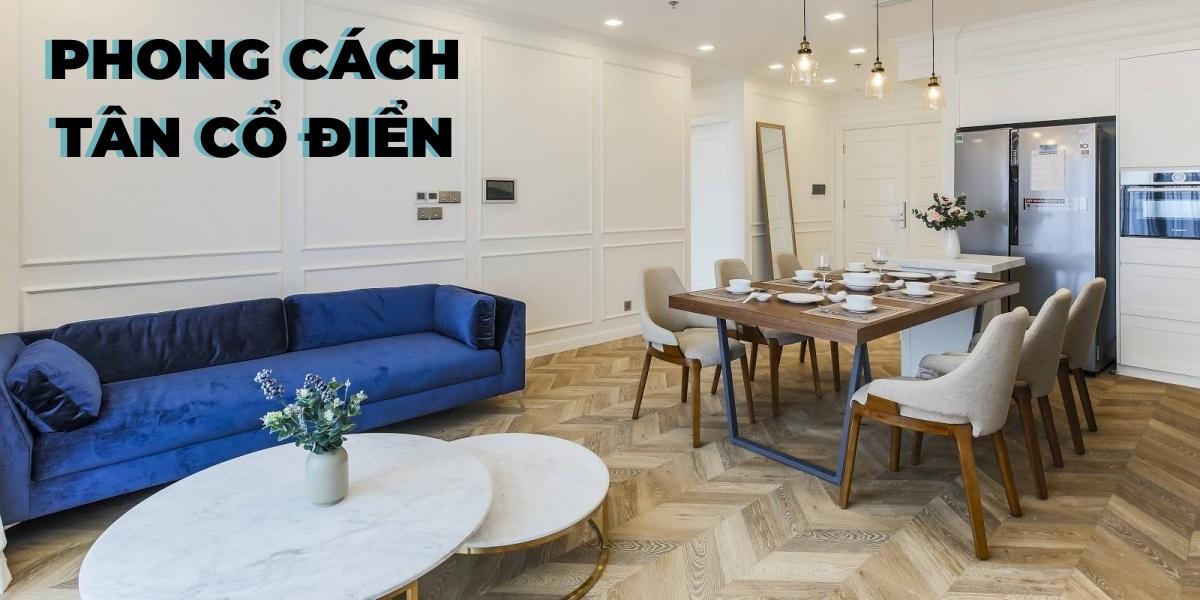 Phong cách tân cổ điển trong thiết kế nội thất