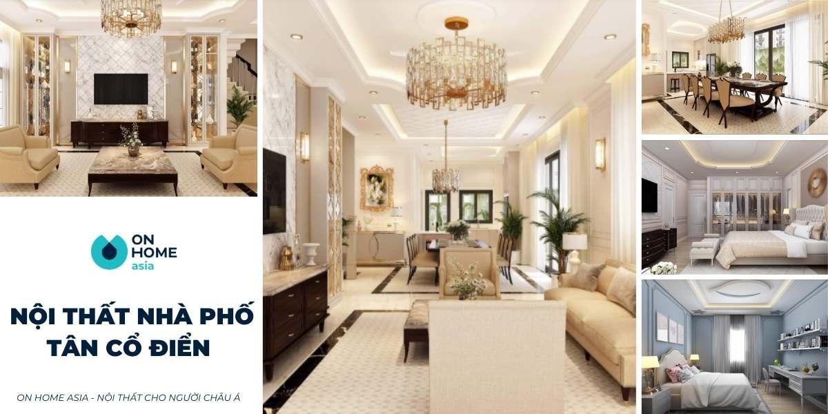 10+ thiết kế nội thất nhà phố tân cổ điển đẹp đang gây bão hiện nay
