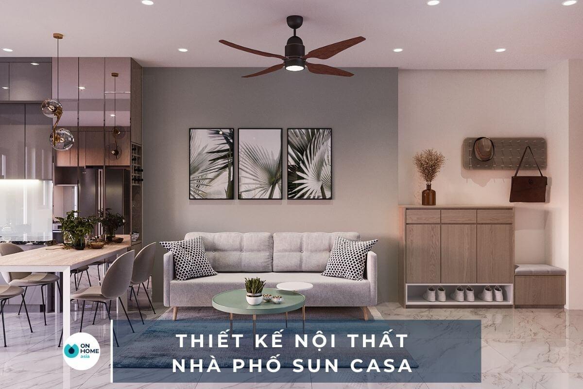 Thiết kế nội thất nhà phố Sun Casa tại Bình Dương