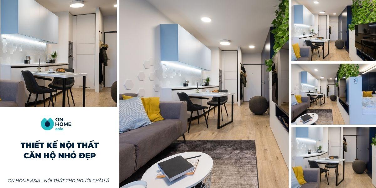 Thiết kế nội thất căn hộ chung cư nhỏ với 50 mẫu thiết kế đẹp hút mắt
