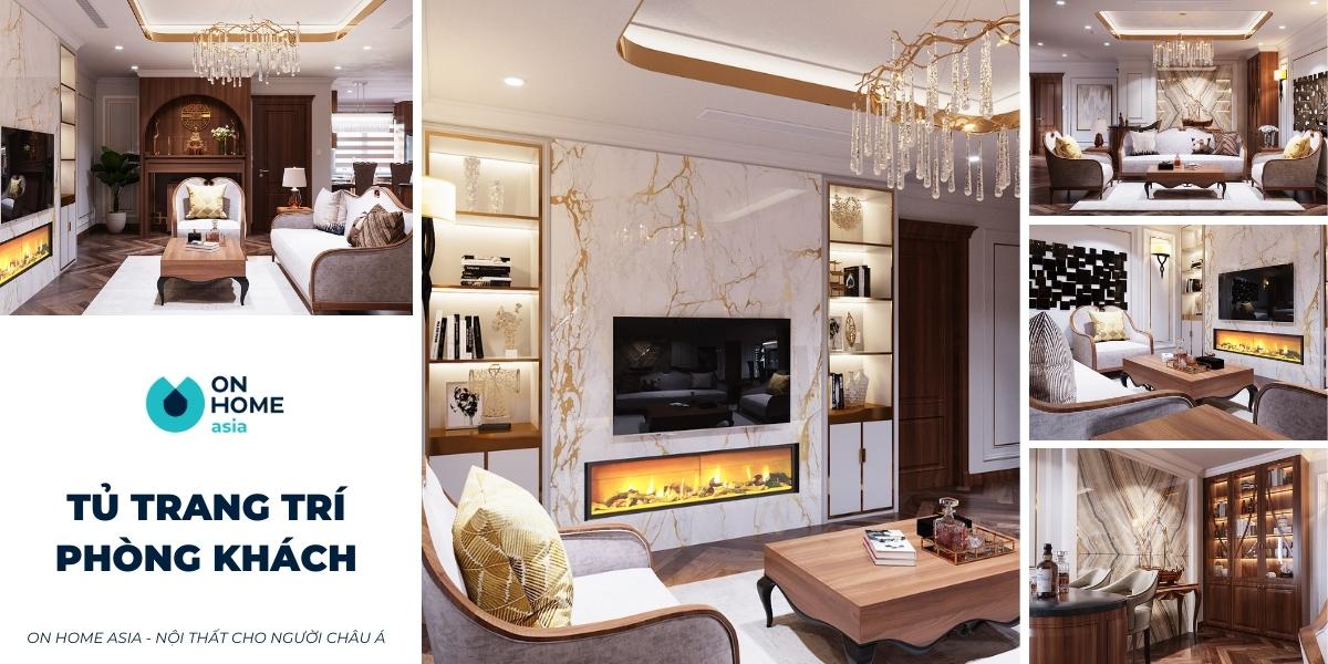 30+ mẫu tủ trang trí phòng khách đẹp đón đầu xu hướng nhất hiện nay